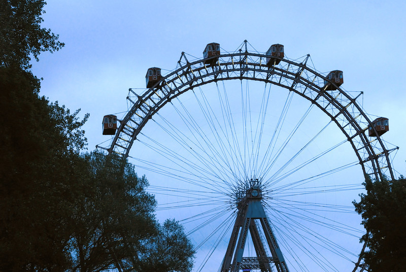 """The Ferris Wheel Made famous in the Orson Well's film """"The Third Man"""" in the Prater. East of Vienna"""