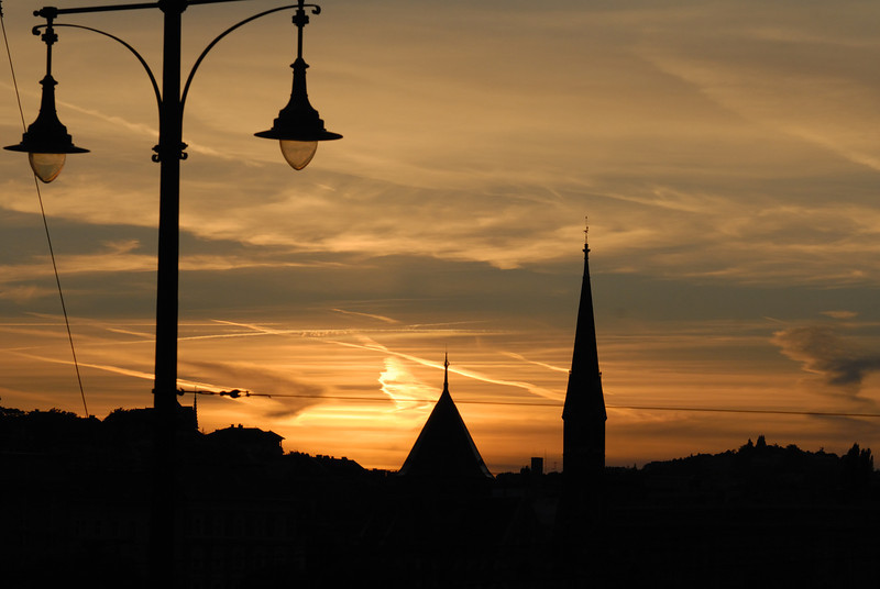 Sunset on the Buda side
