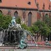 Fountain Alexanderplatz Berlin Germany