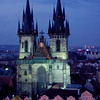 Church of our Lady before Tyn at night in Va'clavske' na'mesti (Wenceslas Square) Prague Czech Republic
