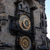 The Astronomical Clock on on wall of the Starmestska' radnice (Old Town Hall), in Va'clavske' na'mesti (Wenceslas Square) Prague Czech Republic