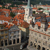 from the top of St Nicolaus Church, Old Town Prague. Vantage point of the Soviets spying on the general public.