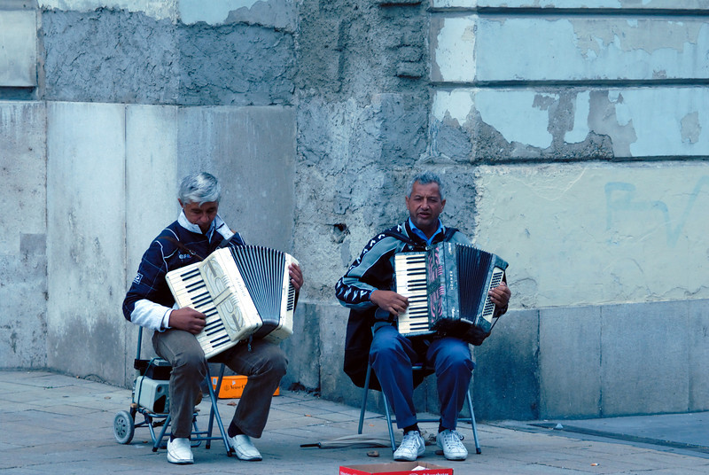 Street musicians in Vienna Austria