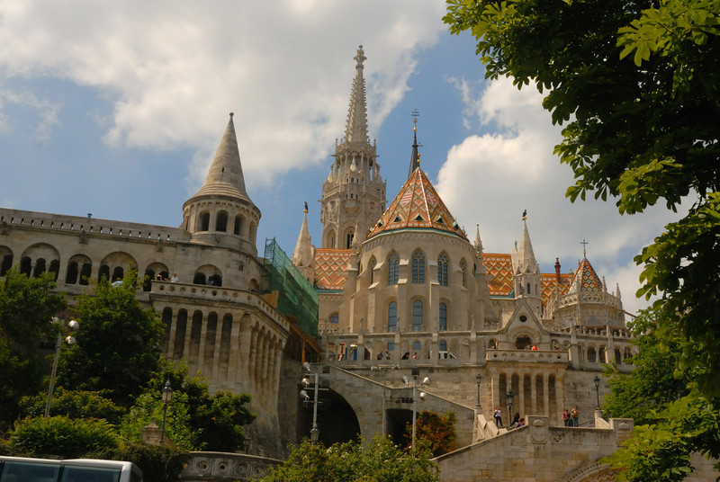 Hala'szbastya & Ma'tya's-templon, the Bastion and Matthias Church, Buda, Budapest Hungar