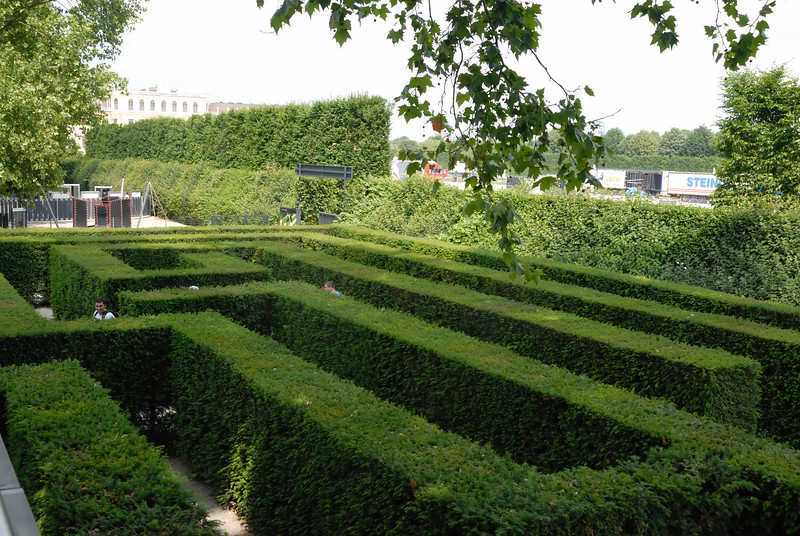 One of the four live hedge mazes in the Schloss Schönbrunn gardens