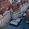 View from the Starmestska' radnice (Old Town Hall), in Va'clavske' na'mesti (Wenceslas Square) Prague Czech Republic