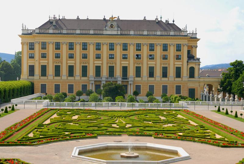 Imperial Gardens on the East side of Schloss Schönbrunn, Vienna Austria