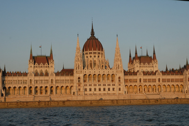 Orszo'gha'z : Parliament Building, Budapest Hungary (Pest side of Danube)