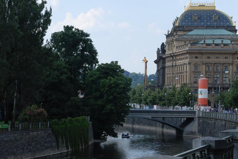 The River Vltava and the Národní divadlo (National Theater), Prague Czech Rep