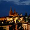 Hradcany: Prague Castle at night. Old town Prague, Czech Republic
