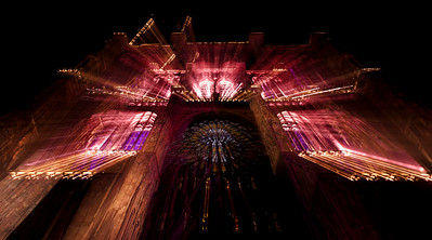 Strasbourg Cathedral, Lights painting