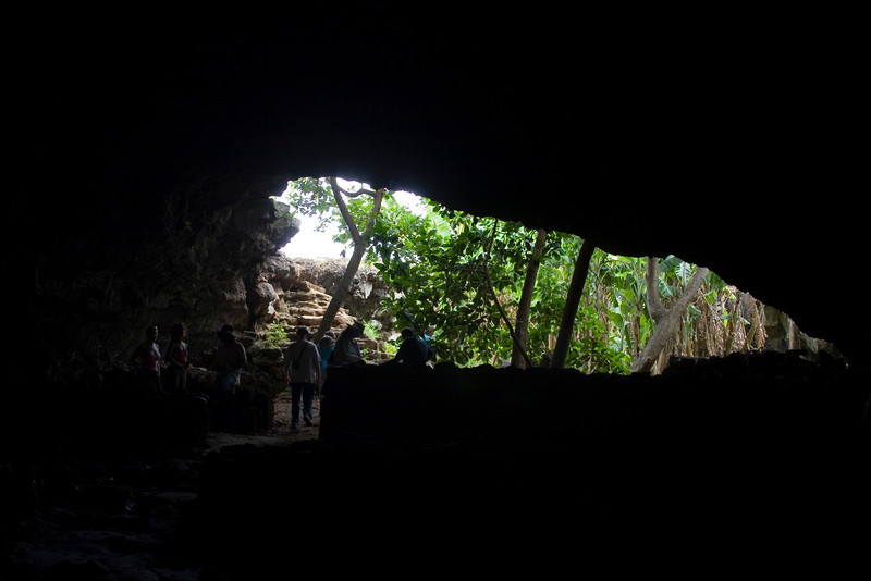 """View from inside a """"Family Cave."""""""