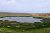 Volcanic crater lake at backside of Quarry.