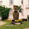 Moai in Valparaiso, Chile, with David (1996).