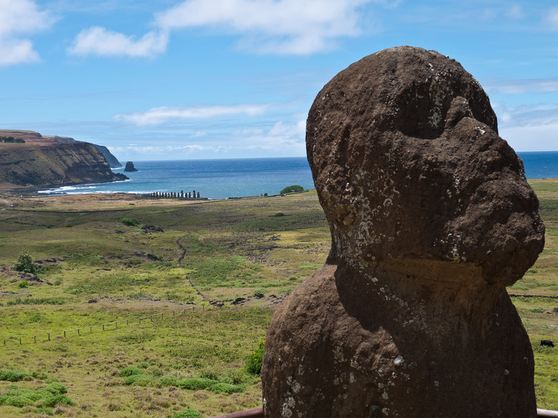 One of the early moai, thought to have been carved by a father in memory of a dead son.