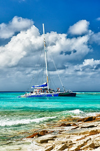 Catamaran sailing in the Grand Turks