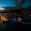 Nightfall. St Thomas harbor