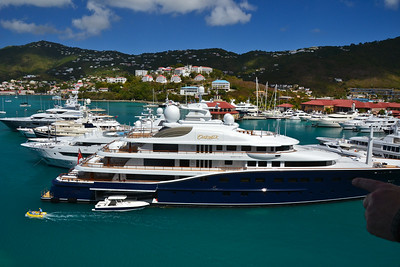 Luxury yachts at the pier in St Thomas