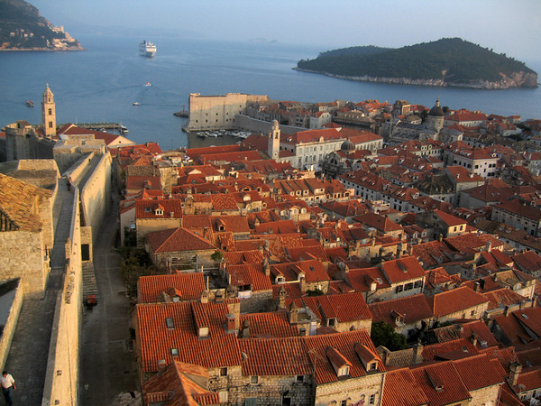 View of the old city from the Minceta Tower