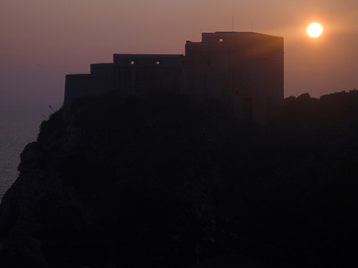 Sunset behind Fort Lovrjenac