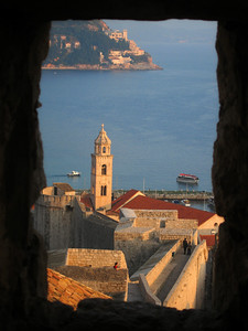 View from Minceta Tower window, Dubrovnik, Croatia.