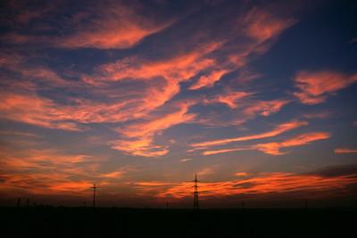 Sunset outside Bucharest