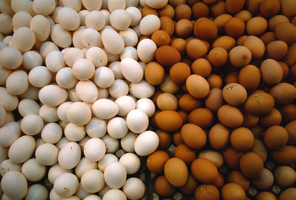 Eggs at street market, Turkey