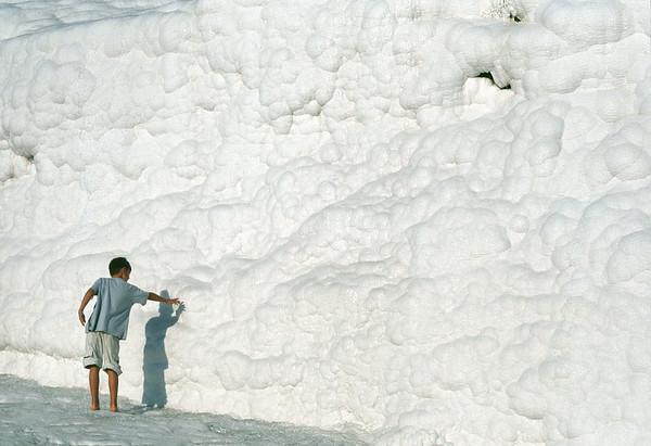 Calcium deposits, Pamukkale, Turkey