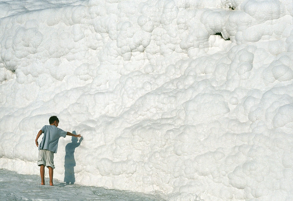 Calcium deposits, Pamukkale, Turkey
