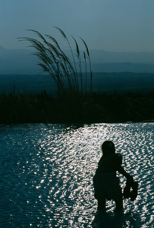 Wading in a pool, Pamukkale