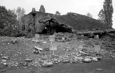 Önnur mynd af gasklefa/ofni nr. 1 í Birkenau.