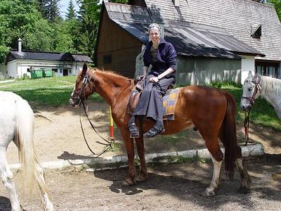 Hesturinn hennar Sonju var mun betri og hann lét betur að stjórn.