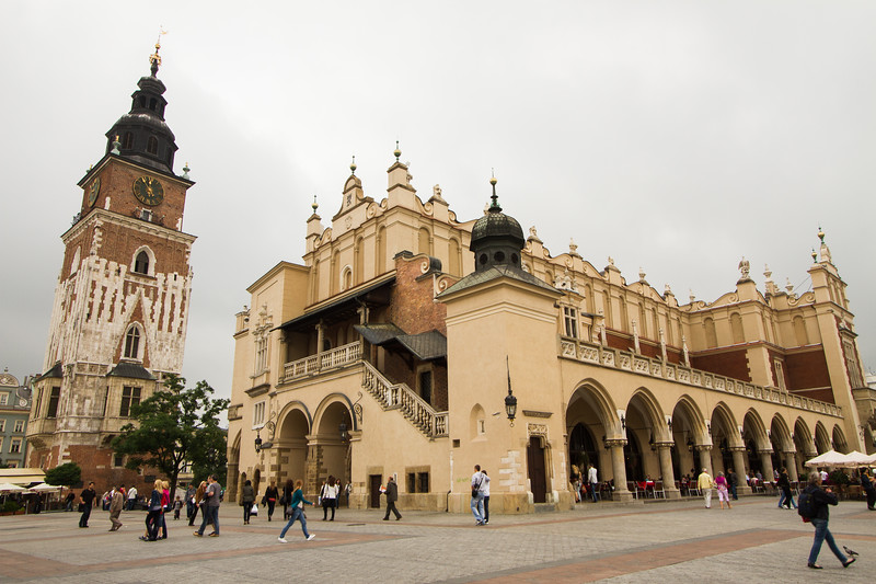 The Sukiennice or Cloth Hall and Krakow Tower