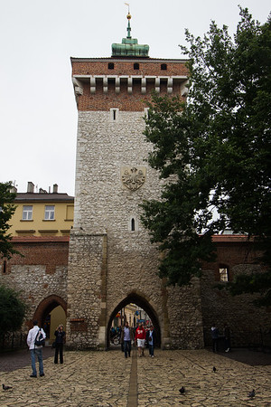 St. Florian's Gate, entrance to the old city of Krakow