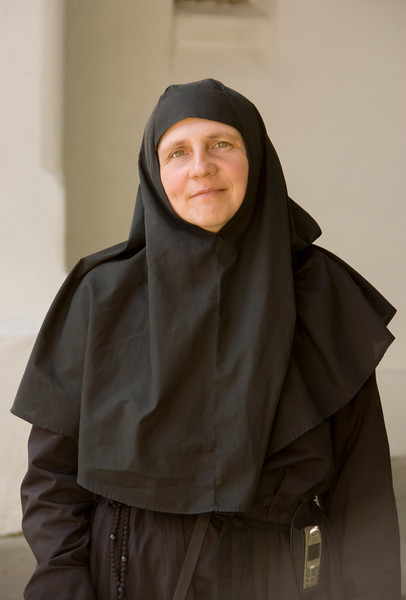 Nun at Caldarusani Monastery.