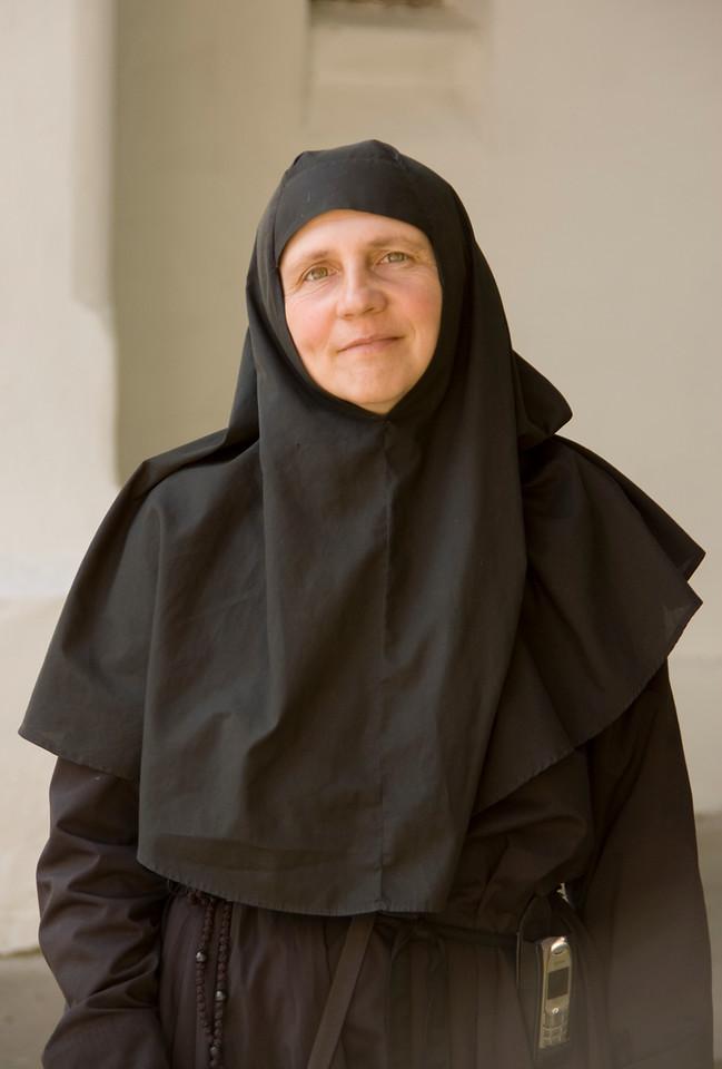 Nun at Caldarusani Monastery.