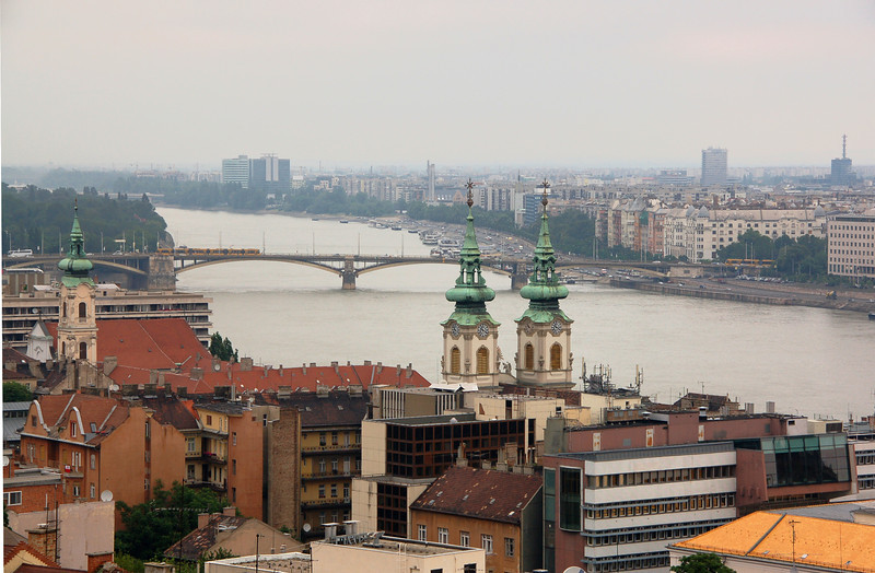 View of Budapest and bridge