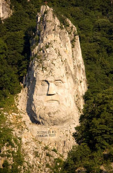 Decebalus Face, Iron Gates, Danube