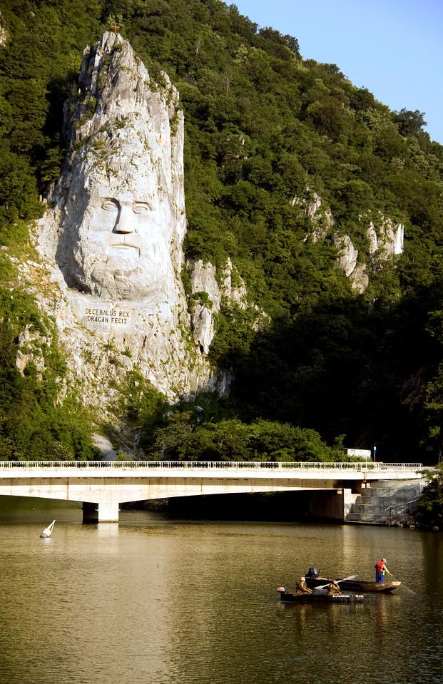 Decebalus face, Iron Gates on Danube