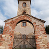 St. Mark Church and entry gate in Susany, Czech Republic