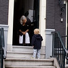 Our neighbor in Amsterdam welcoming her Grandson for a visit.