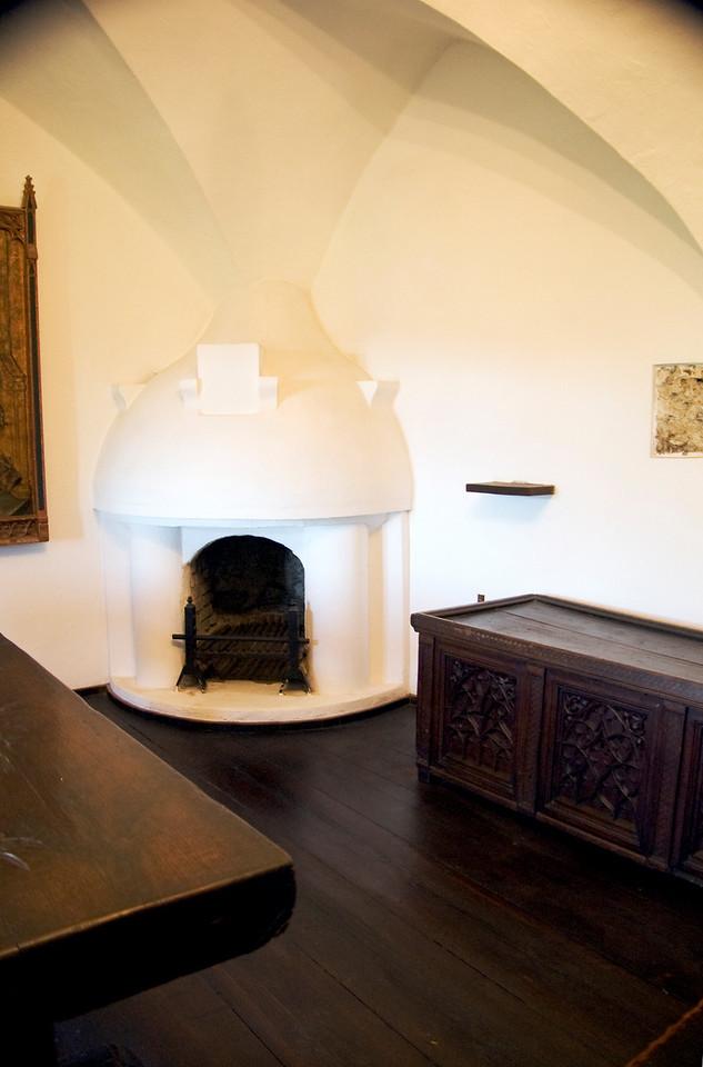 White Fireplace in Bran Castle