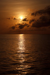 Beautiful sunset at Ashmore Atoll, Australia