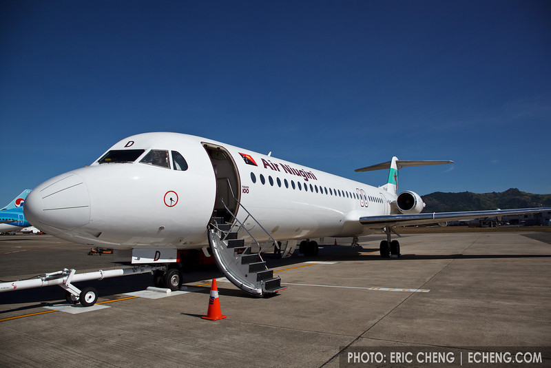 Air Niugini jet parked at Port Moresby, Papua New Guinea