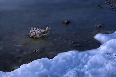 Mono Lake rock and foam.