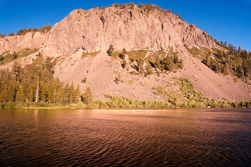 Sunrise at Twin Lakes, near the city of Mammoth Lakes