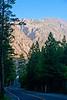 June Lake Loop Rd (Rt.158) twists its way through the foothills of Sierra Nevada mountain range.