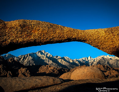 Another arch in Alabama Hills. Mt Whitney in distance