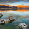 Morning sun on the Sierra Nevada at Mono Lake