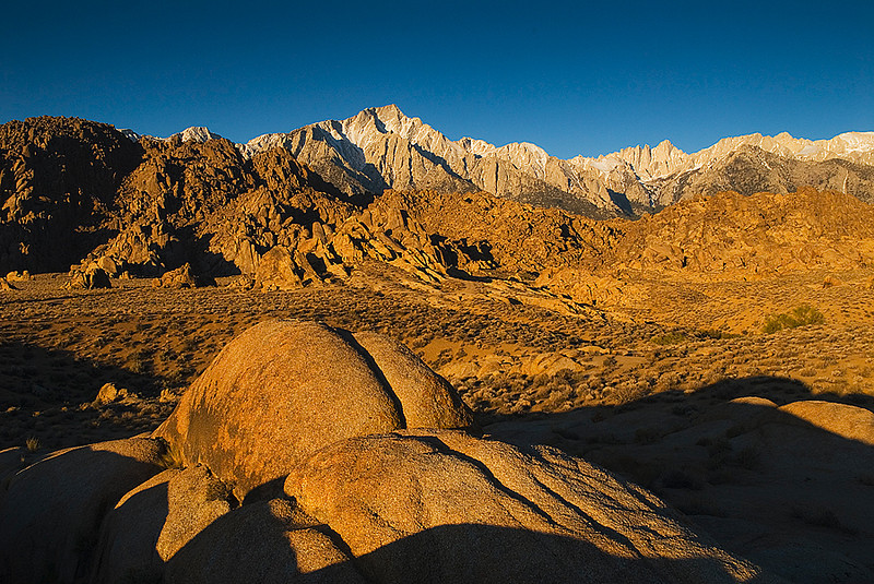 Alabama Hills and the Mt. Whitney